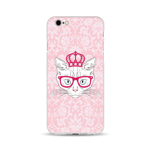 Royal Red Glasses Cat - DesignoCase