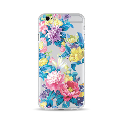 Blue Leaves and Flowers - DesignoCase