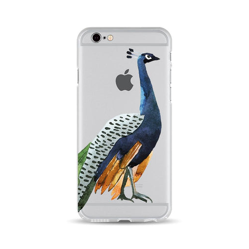 Walking Dark Blue Peacock - DesignoCase