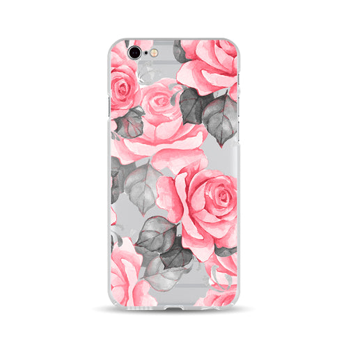 Red Rose and Grey Leaves - DesignoCase