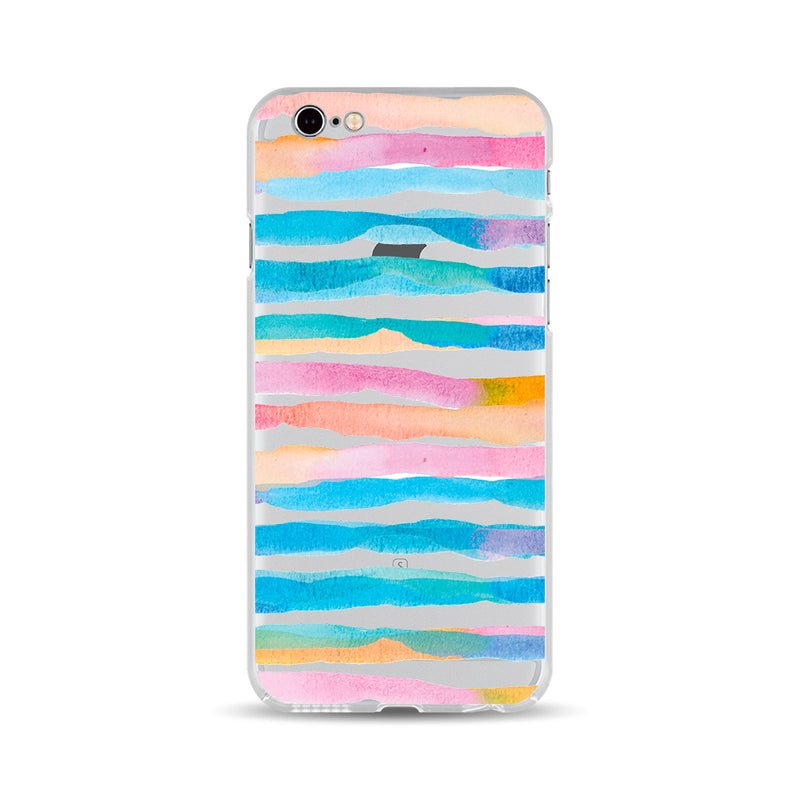 Colorful Watercolor Stripes - DesignoCase