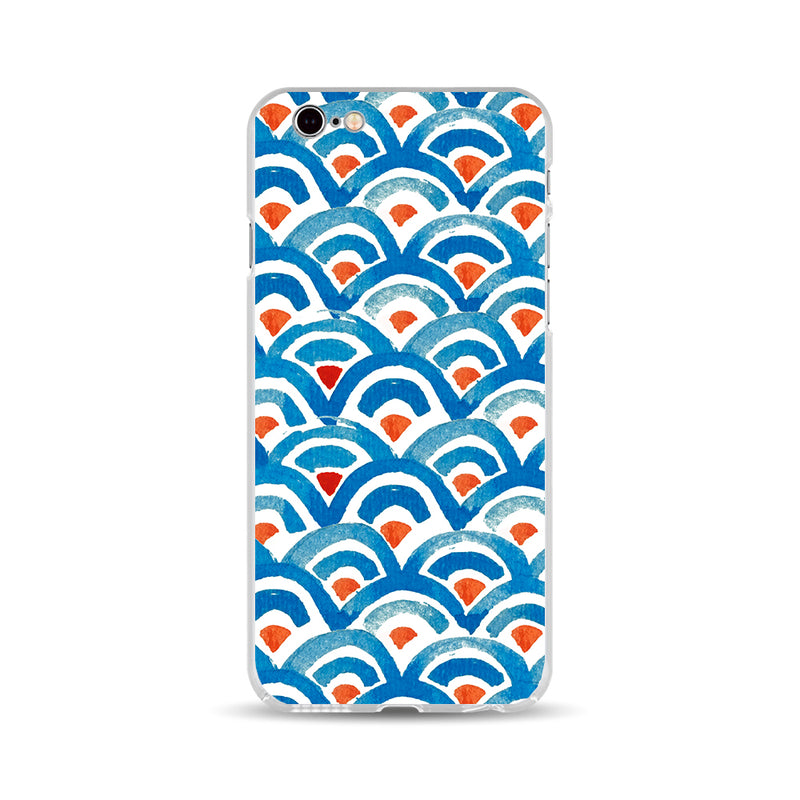 Red And Blue Fish Scales - DesignoCase