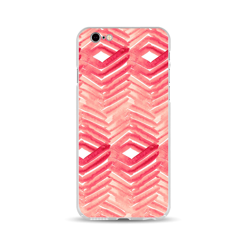 Red Zigzag Waterolor - DesignoCase