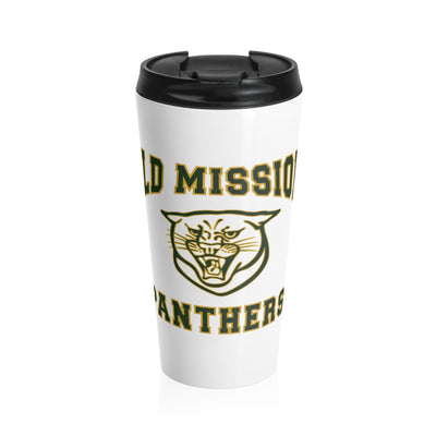 Old Mission Panthers White Stainless Steel Travel Mug - 15 oz.