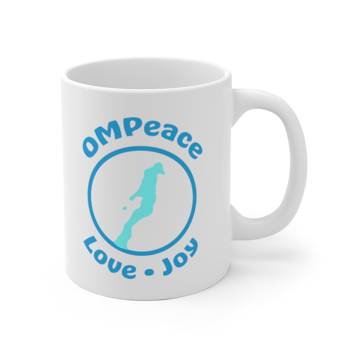 OMPeace White Ceramic Mug