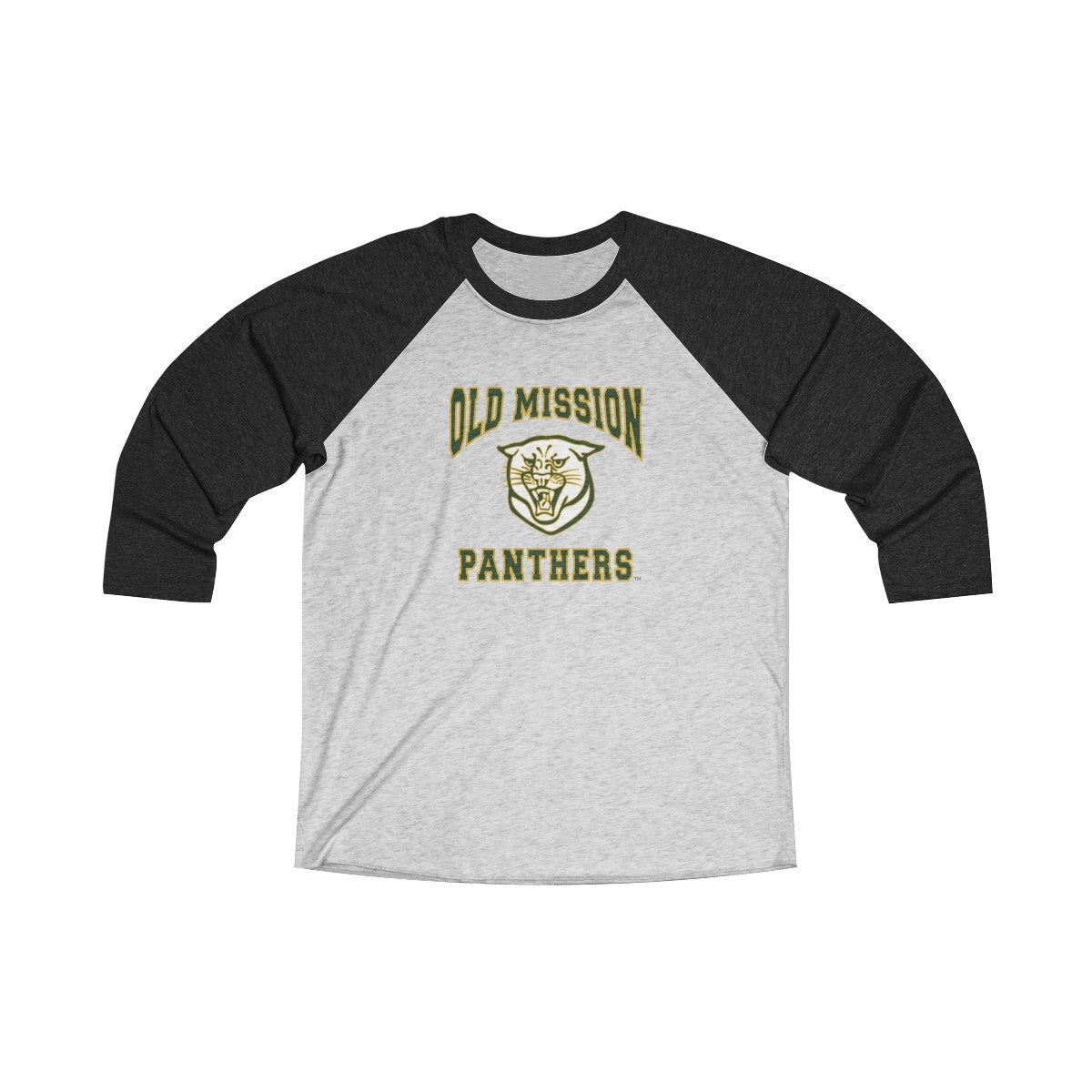 Old Mission Panthers Unisex 3/4 Raglan Tee