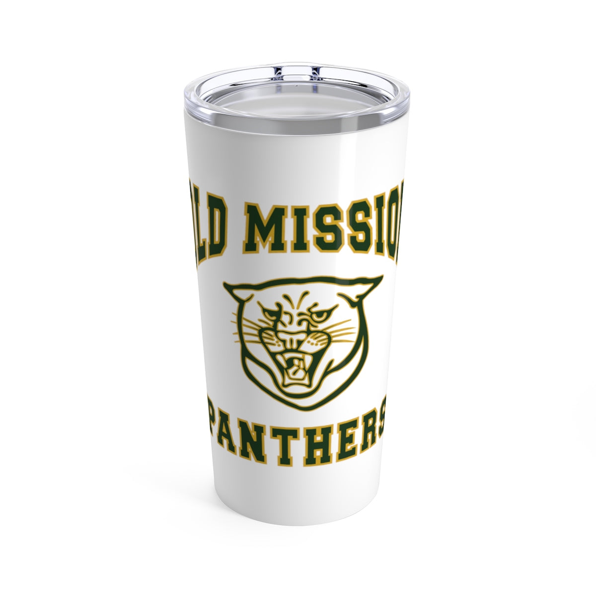 Old Mission Panthers White Stainless Steel Tumbler - 20 oz.