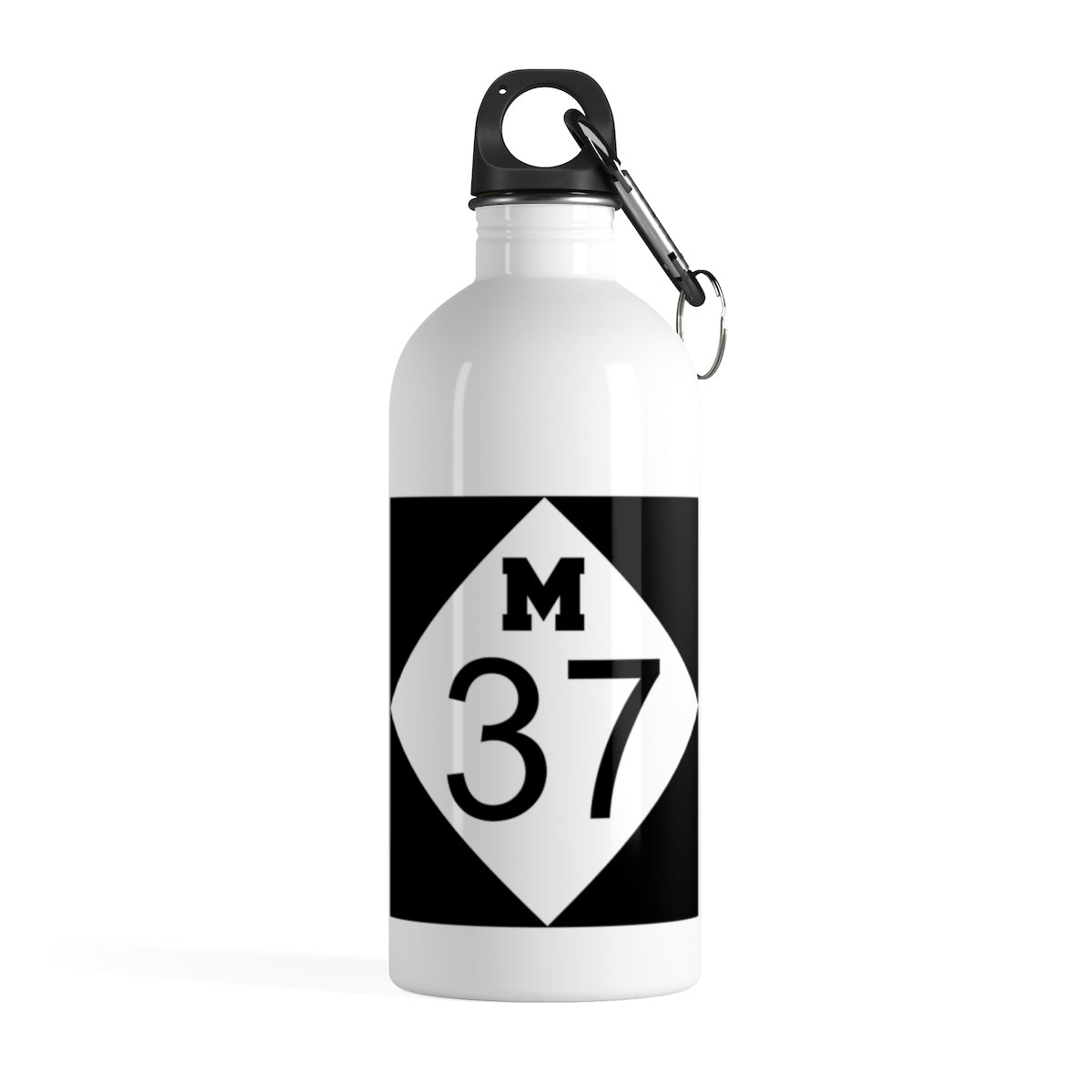 M37 White Stainless Steel Water Bottle