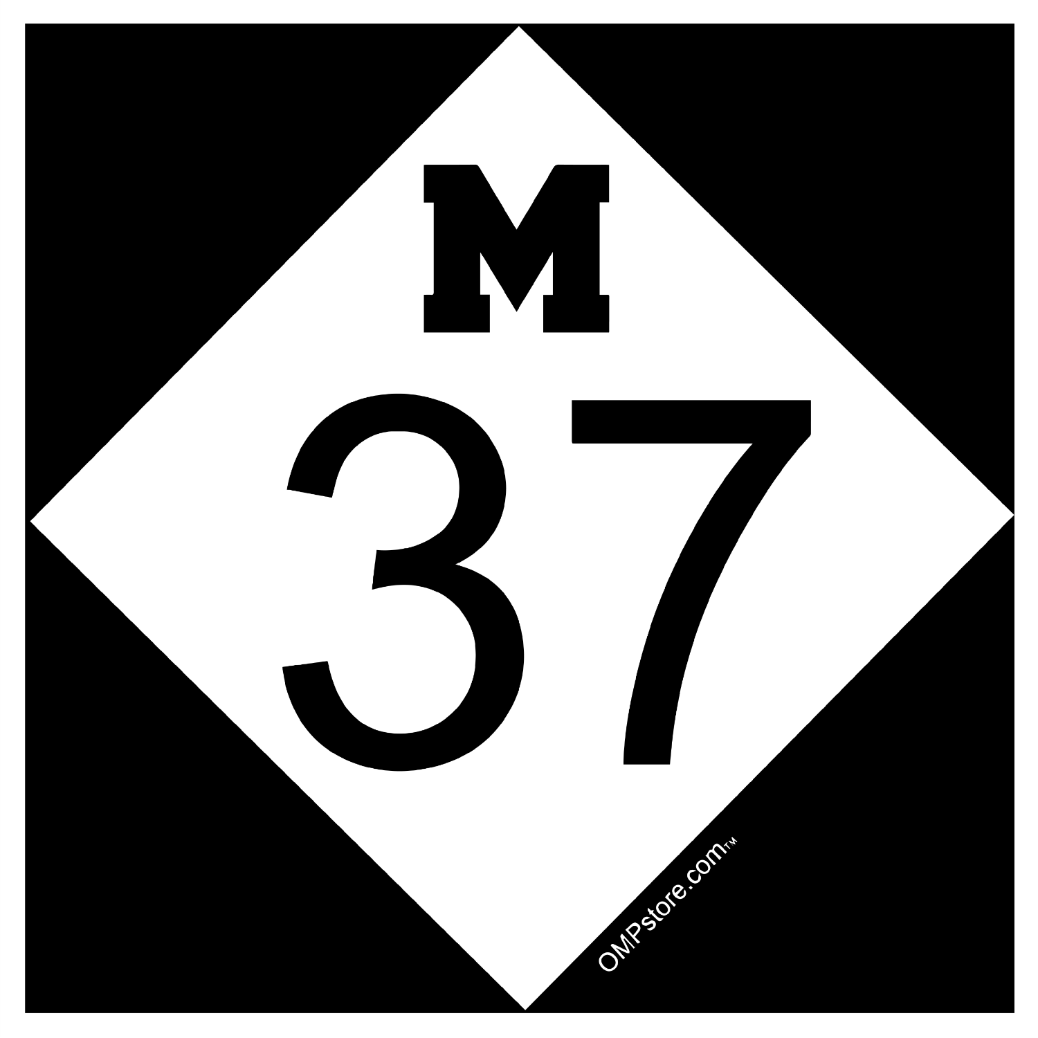 M37 Square Vinyl Sticker