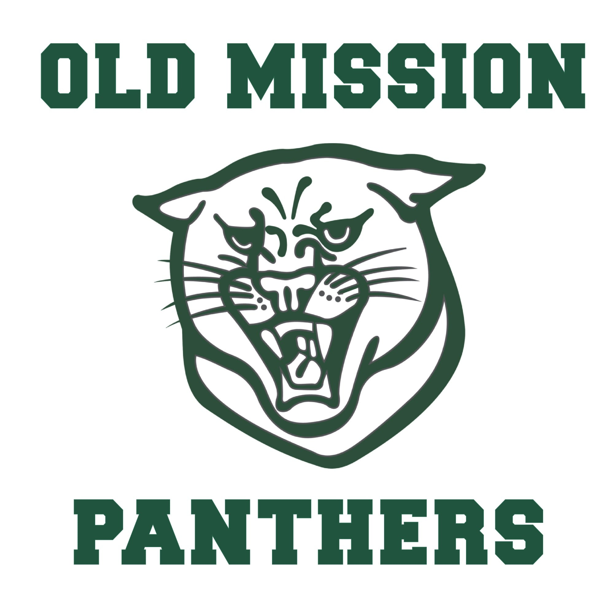 Old Mission Panthers Square Vinyl Sticker