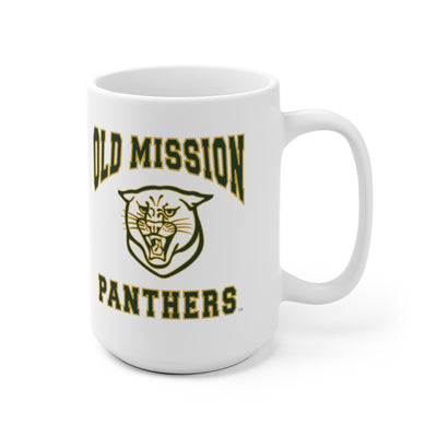 Old Mission Panthers White Ceramic Mug