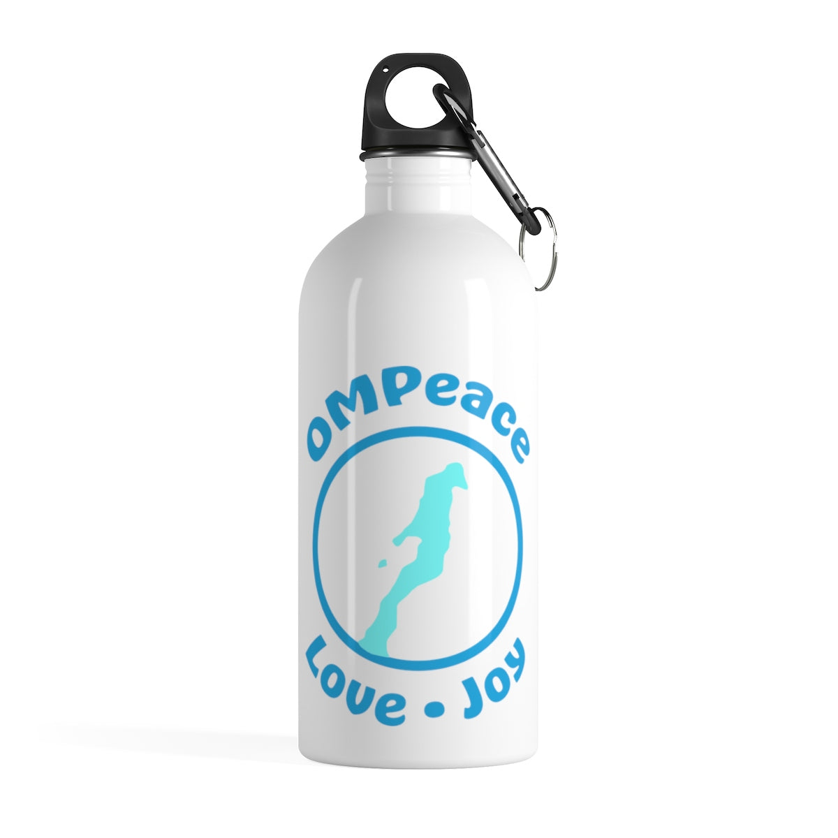 OMPeace White Stainless Steel Water Bottle
