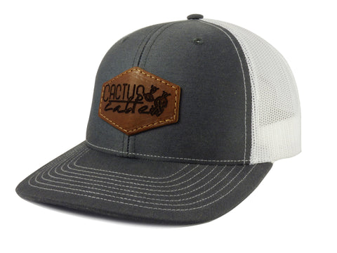 Cactus Cables Leather Patch Hat