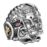Good Vs Evil Buddha Demon Ring