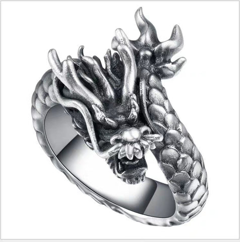 Silver Dragon God Ring