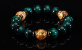 Yakuza Gold Dragon Green Tigereye Bracelet