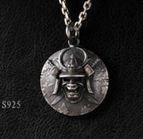 Samurai Skull Pendant Necklace
