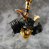 Golden Samurai Mask Necklace
