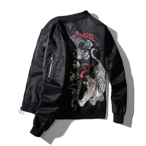 Tiger vs Dragon Sukajan Bomber Jacket