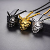 Hannya Mask Chain Necklace