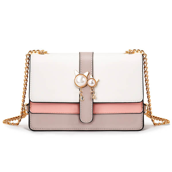 Crossbody Bags for Women with Gold-Tone Metal Chain Strap