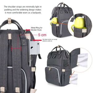 Pomelo Best-diaper backpack dark grey-AT-KB-100-0041