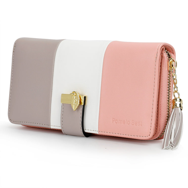 Faux Leather Wallets for Women with Large Comparment | Pomelo Best