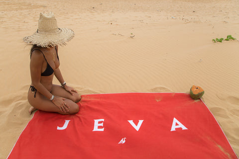 JEVA Beach Towel  / RED