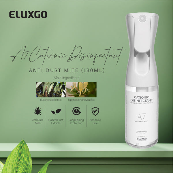 cationic disinfectant sanitizer anti dust mite 180ml