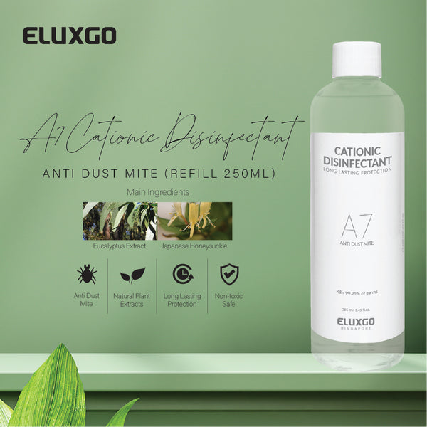 cationic disinfectant sanitizer anti dust mite refill 250ml