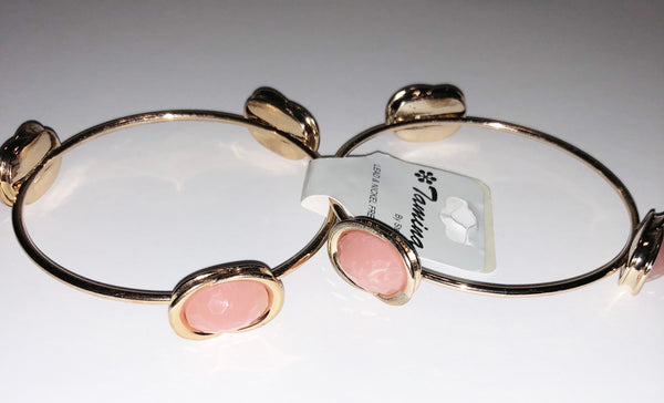 Light peach & gold bracelet (pair)