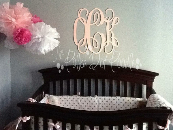 Large Wooden Wall Monograms