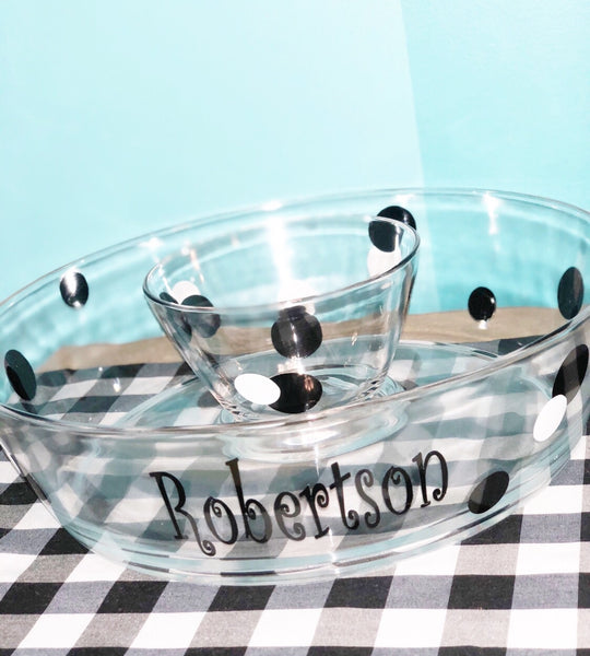 Acrylic Chip & Dip Tray (2 pieces)