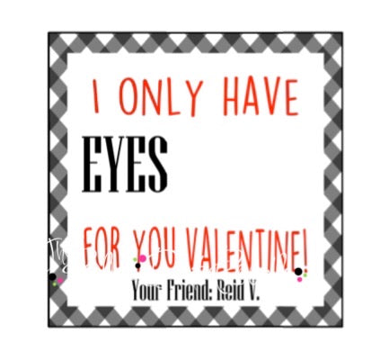 Personalized Gift Tags-Eyes for you square