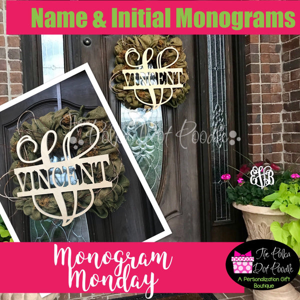 Name and Initial Wooden Monogram