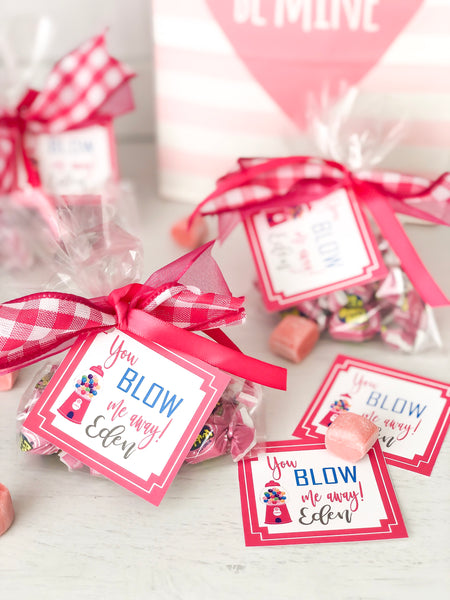 Valentines Day Personalized Gift Tags-You BLOW me away