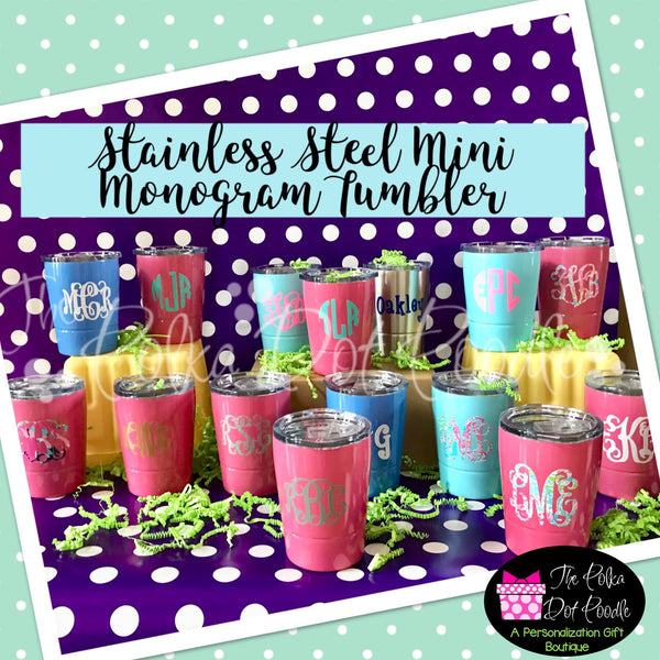 Stainless Steel Monogrammed Mini Tumbler