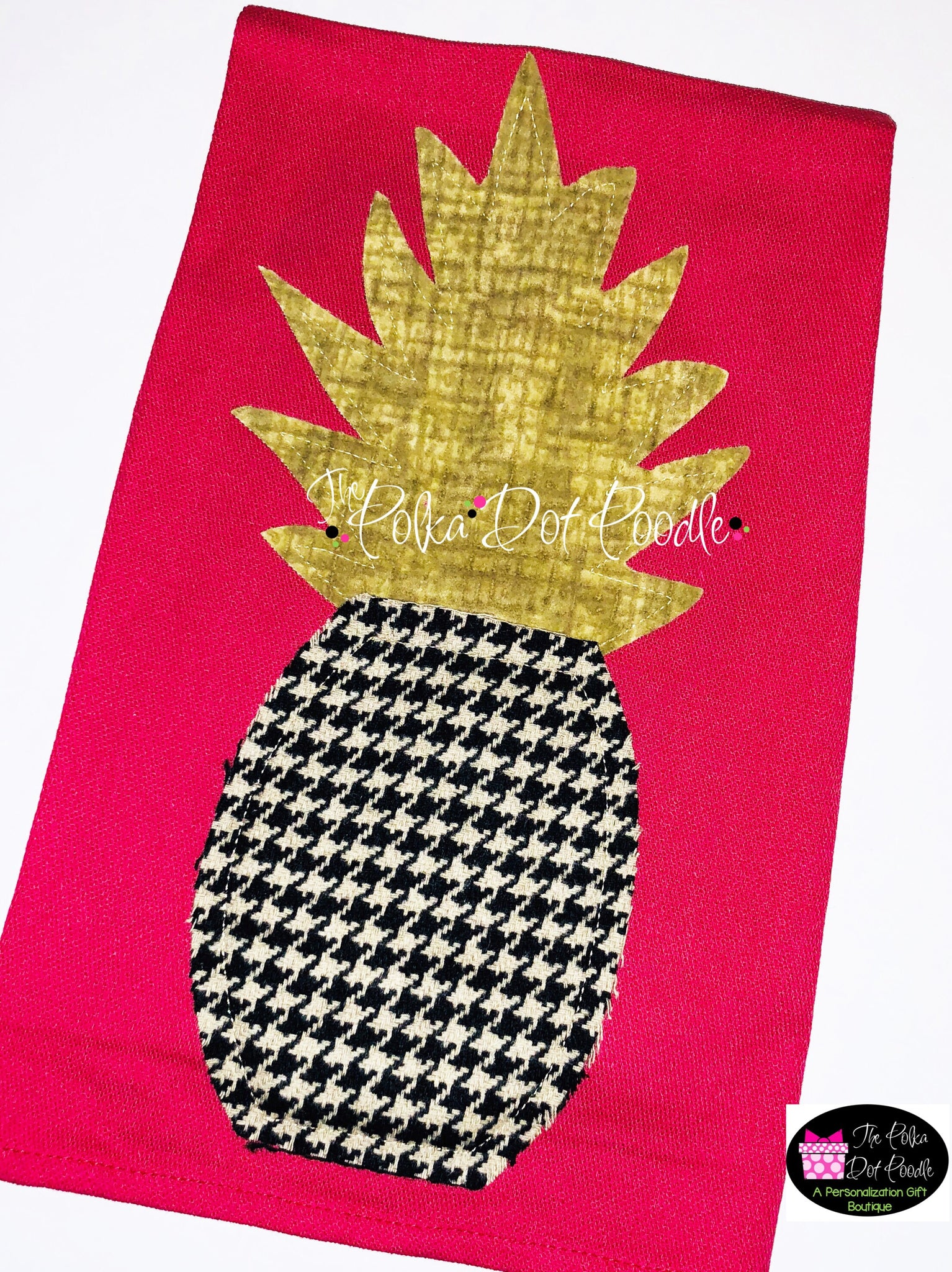 Pineapple Houndstooth Towel