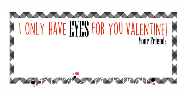 Valentines Day Personalized Gift Tags- Eyes for you-rectangle