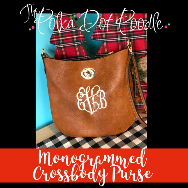 Monogrammed Crossbody Purse