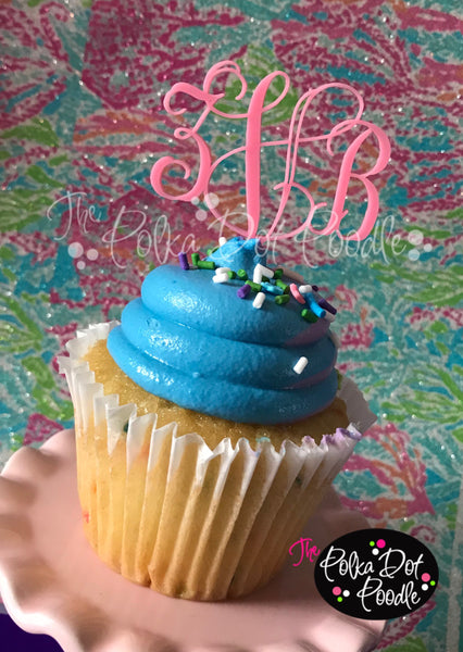Monogram Cupcake Picks (Set of 6)