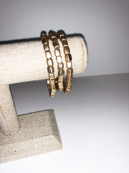 Matte Brushed Gold link bracelet