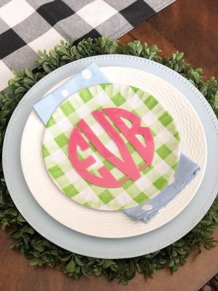 Acrylic Place Setting Monogram (multiple colors available)