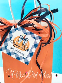"October Monthly Tag ""Happy Fall from the"" Personalized Gift Tag"