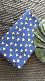 Triangle Herd Navy Mustard French Terry ( Per 1/2 Metre)