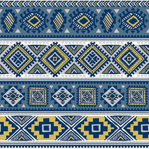 Navy Aztec French Terry ( Per 1/2 Metre)