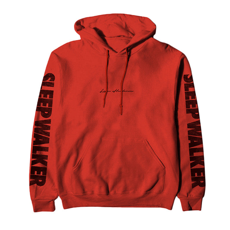 Red Sleep Walker Hooded Sweatshirt