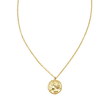 JOLIE & DEEN HELENA COIN NECKLACE - GOLD - sisterfield