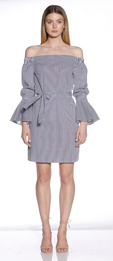 MINISTRY OF STYLE STRIPED OUT MIDI DRESS - sisterfield