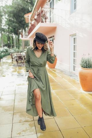 SAN JOSE THE LABEL LULU MAXI - KHAKI - sisterfield
